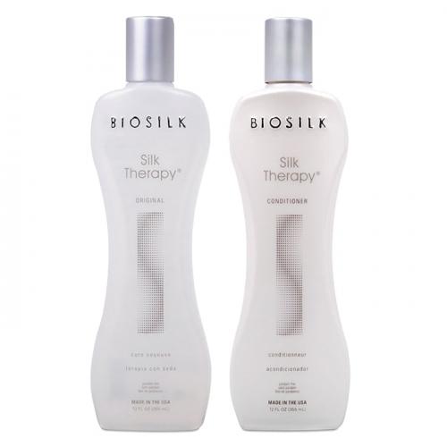 Дуо шампоан и балсам за подхранване и хидратация с копринени протеини BioSilk Silk Therapy Original