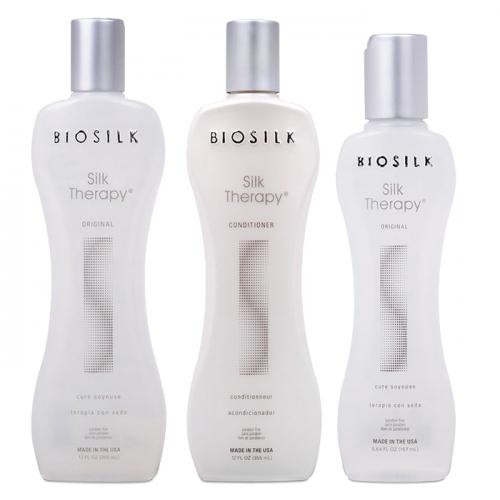 Трио шампоан, балсам и коприна за подхранване и хидратaция BioSilk Silk Therapy Original