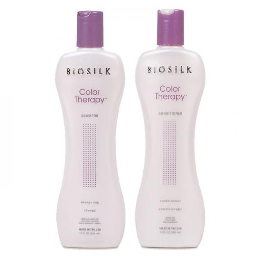 Дуо шампоан и балсам за боядисана коса с копринени протеини BioSilk Color Therapy