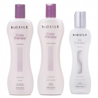 Комплект шампоан, балсам и коприна за боядисана коса BioSilk