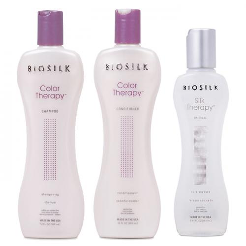Трио шампоан, балсам и коприна за боядисана коса BioSilk
