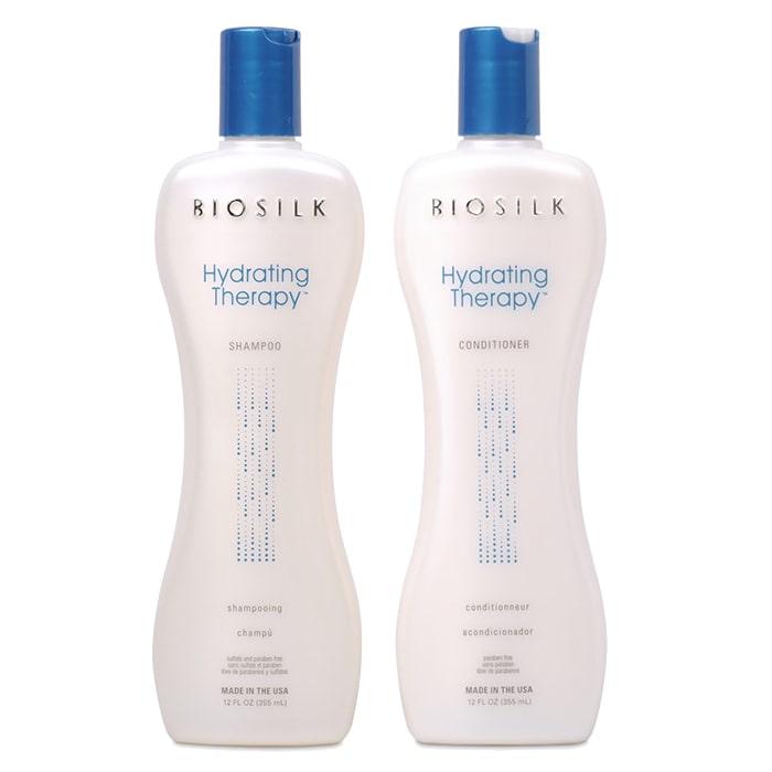 Дуо шампоан и балсам за интензивна хидратация с копринени протеини за суха коса BioSilk Hydrating Therapy