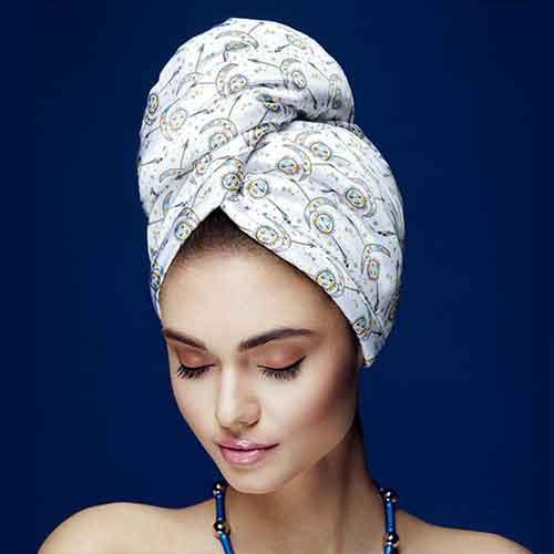 Дизайнерска кърпа за коса Aglique 24/7 сатен