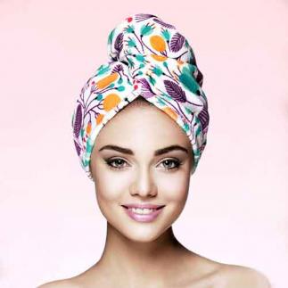 Дизайнерска кърпа за коса Aglique Jardin памук