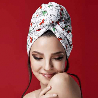 Дизайнерска кърпа за коса Aglique Arktos памучна