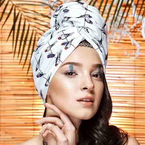 Дизайнерска плажна кърпа за коса Aglique BIRDIE