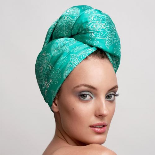 Дизайнерска кърпа за коса Aglique Hamsa сатенена