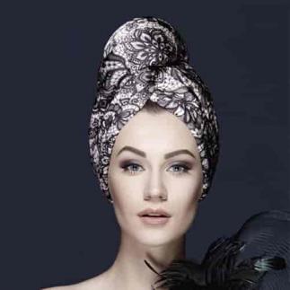 Дизайнерска кърпа за коса Aglique Isabella сатенена