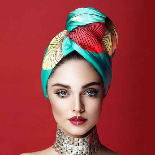 Дизайнерска кърпа за коса Aglique Japan сатен