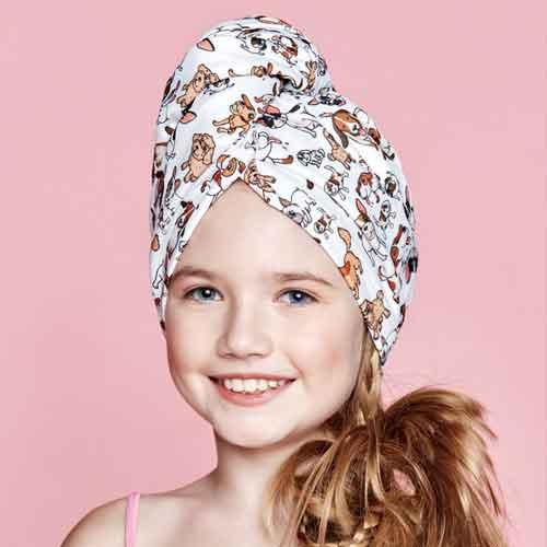 Дизайнерска плажна кърпа за коса Aglique AMICI KIDS