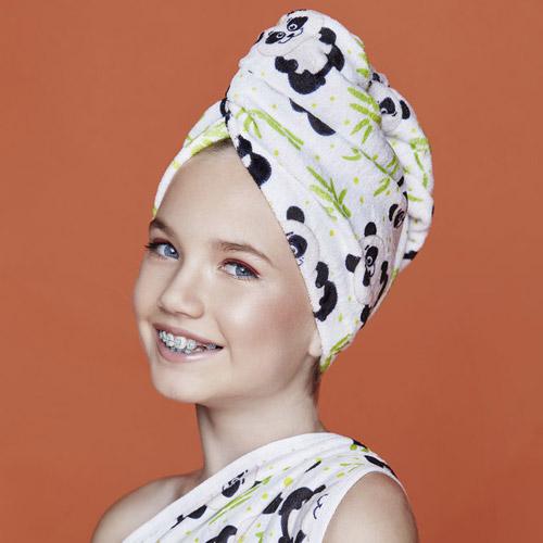 Дизайнерска кърпа за коса Aglique CHARLIE KIDS памучна