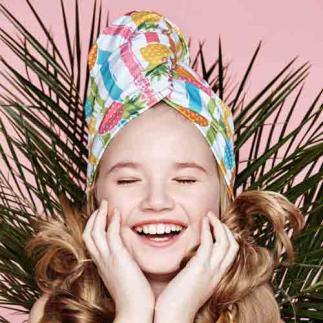 Дизайнерска плажна кърпа за коса Aglique DOLCE KIDS