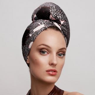 Дизайнерска кърпа за коса Aglique Mokita сатенена