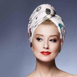 Дизайнерска кърпа за коса Aglique Mon Cheri сатенена