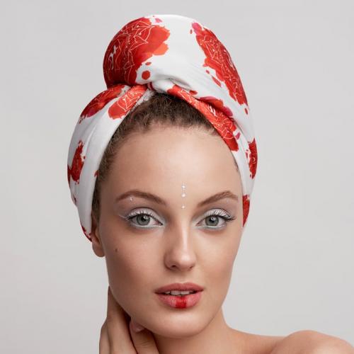 Дизайнерска кърпа за коса Aglique Muladhara сатенена