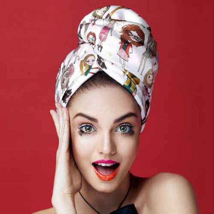 Дизайнерска кърпа за коса Aglique Mademoiselle сатенена