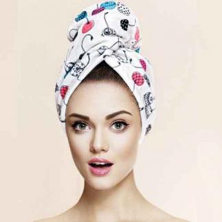 Дизайнерска кърпа за коса Aglique Mon Cheri памучна