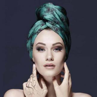 Дизайерска кърпа за коса Aglique №13 сатенена