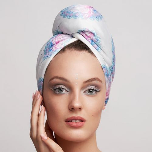 Дизайнерска кърпа за коса Aglique Padma сатенена