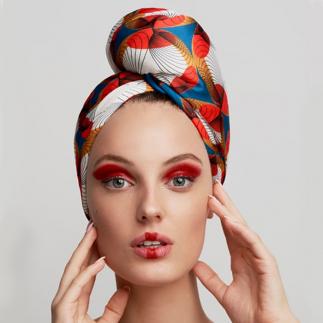 Дизайнерска кърпа за коса Aglique Ukiyo сатенена
