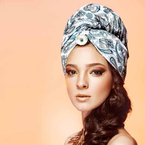 Дизайнерска плажна кърпа за коса Aglique Амалия