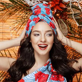 Дизайнерска плажна кърпа за коса Aglique IRU