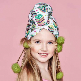 Дизайнерска плажна кърпа за коса Aglique ONLY KIDS