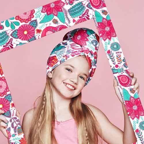 Дизайнерска плажна кърпа за коса Aglique WONDERLAND KIDS