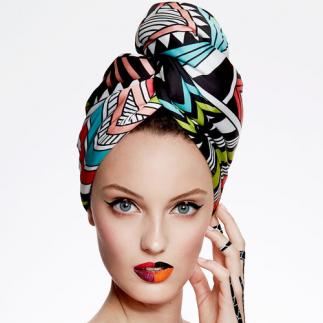 Дизайнерска плажна кърпа за коса Aglique South