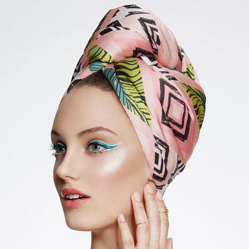 Дизайнерска плажна кърпа за коса Aglique Tropic