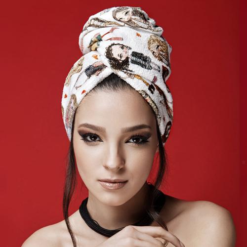 Дизайнерска кърпа за коса Aglique Mademoiselle памучна