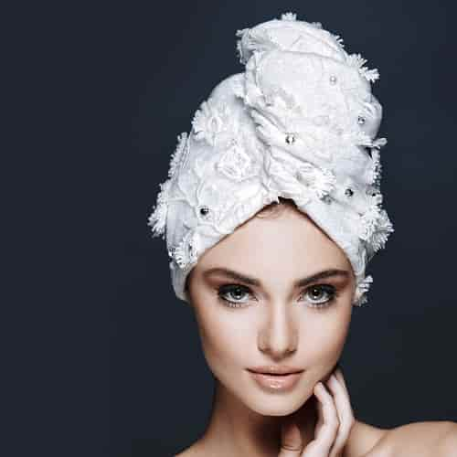 Дизайнерска кърпа за коса Aglique Shine Swarovski дантелен тюл