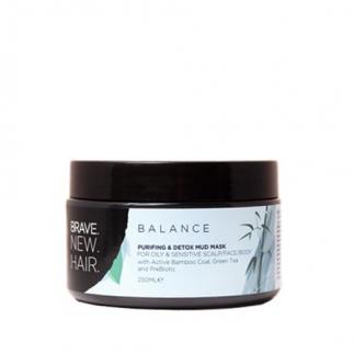 Черна маска за чувствителен и мазен скалп 250 мл Brave New Hair Balance