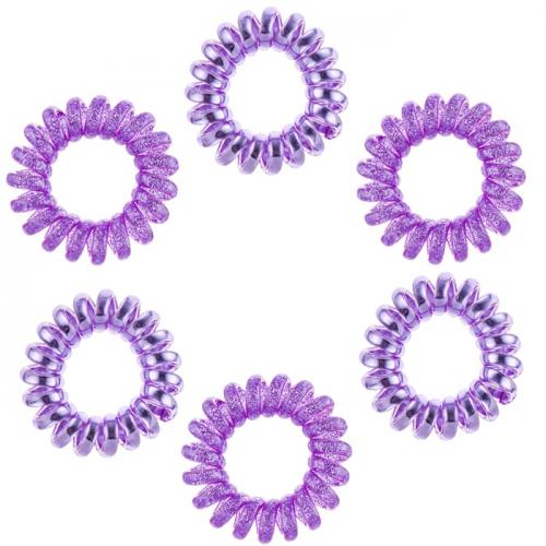 Ластици за коса Dessata No Pulling Morado Metal лилаво  6 броя