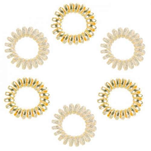 Ластици за коса Dessata No Pulling Oro Rosa Metal розово злато 6 броя