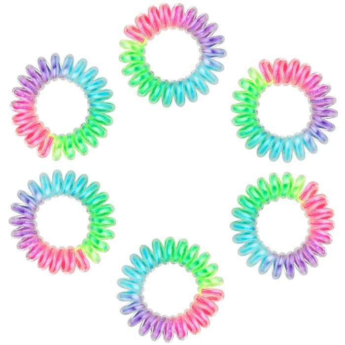Ластици за коса Dessata No Pulling Rainbow 6 бр