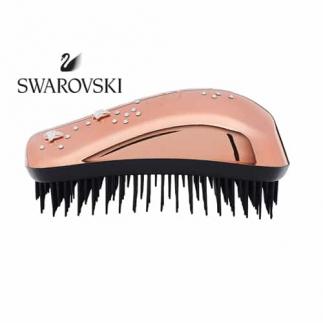 Четка за коса Dessata Maxi Swarovski Розово Злато