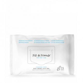 Бебешки мокри кърпички с органично алое вера 72 бр Fifi&Friends Cleansing Wipes