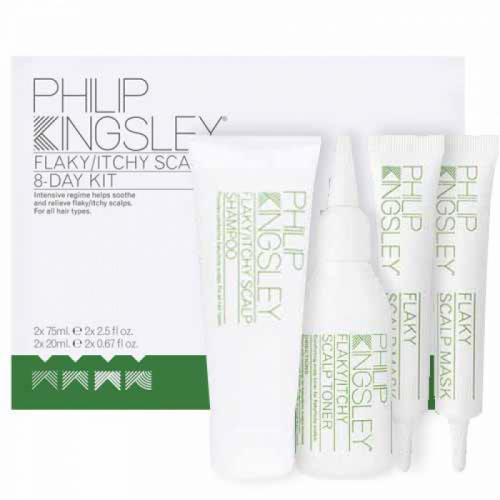 Комплект Режим за успокояване на проблемен скалп за 8 дни Philip Kingsley Flaky/Itchy Regime Kit