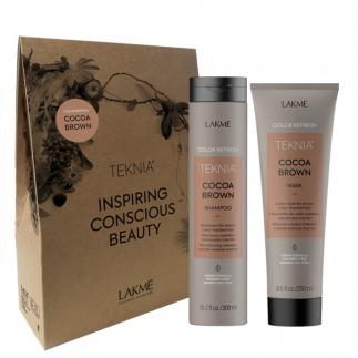 Комплект за тониране на коса в кестеняво LAKME Cocoa Brown