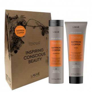 Комплект за тониране на коса в медно LAKME Saffron Copper