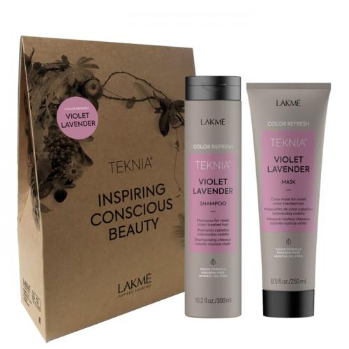 Комплект за тониране на коса в лилаво LAKME Violet Lavender