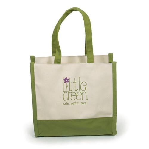 Чанта от канава Little Green Canvas Tote
