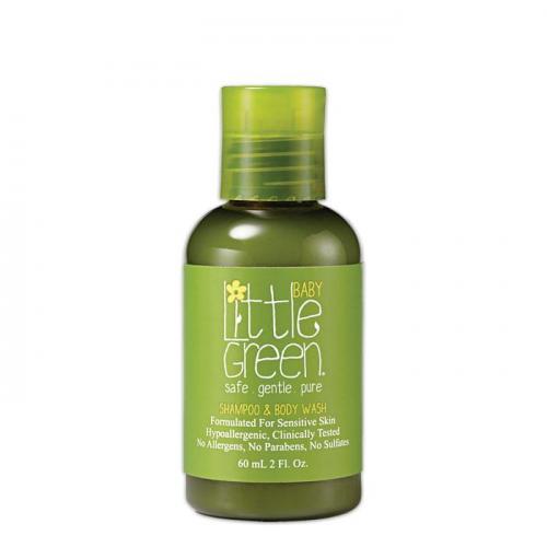 Шампоан за коса и тяло за бебета Little Green Baby Shampoo&Body Wash 60 мл