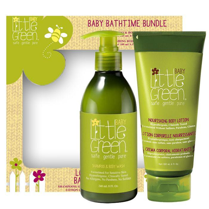 Бебешки комплект за коса и тяло от 2 части Little Green Baby Bathtime Bundle