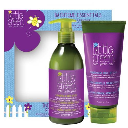 Детски комплект за коса и тяло от 2 части Little Green Kids Bathtime Essentials