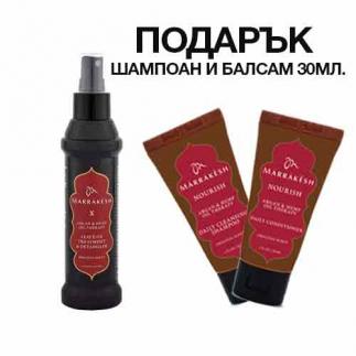 Спрей за разплитане на косата с конопено и арганово масло 118 мл Marrakesh X Leave-In Treatment & Detangler Original
