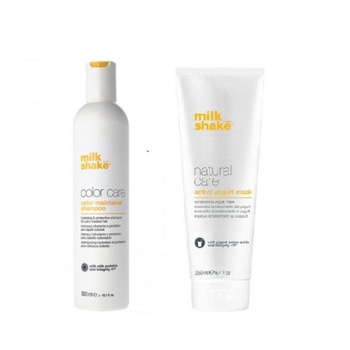 Комплект шампоан за боядисана коса и активна маска йогурт Milkshake