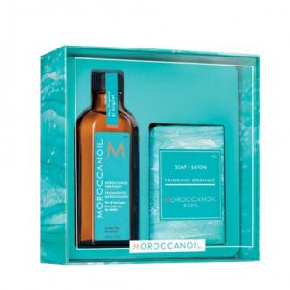 Комплект арганово масло за всеки тип коса 100 мл + сапун подарък 200 гр Moroccanoil