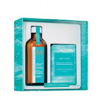 Комплект арганово масло за тънка коса 100 мл + сапун подарък 200 гр Moroccanoil